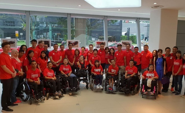 Boccia Friend for The World oleh Ital Auto dan Ferrari Owners Club Singapore