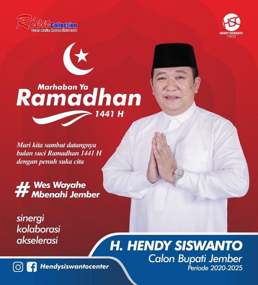 H Hendy Siswanto: Marhaban Ya Ramadhan 1441
