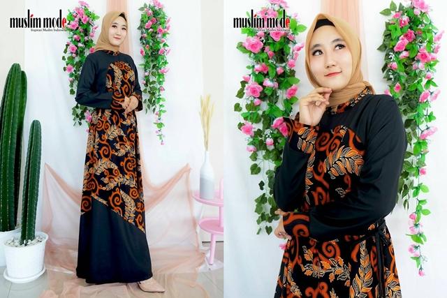 Gamis Batik Daun Muslim Mode Hariansuara Com